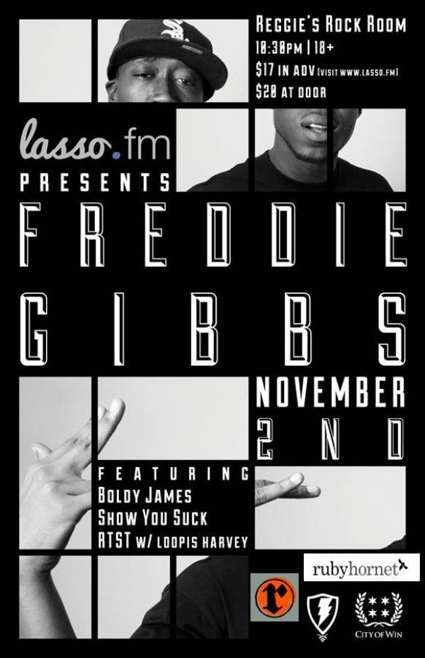 gibbs live flyer e1351007151794 [RH Events] Freddie Gibbs Live At Reggies