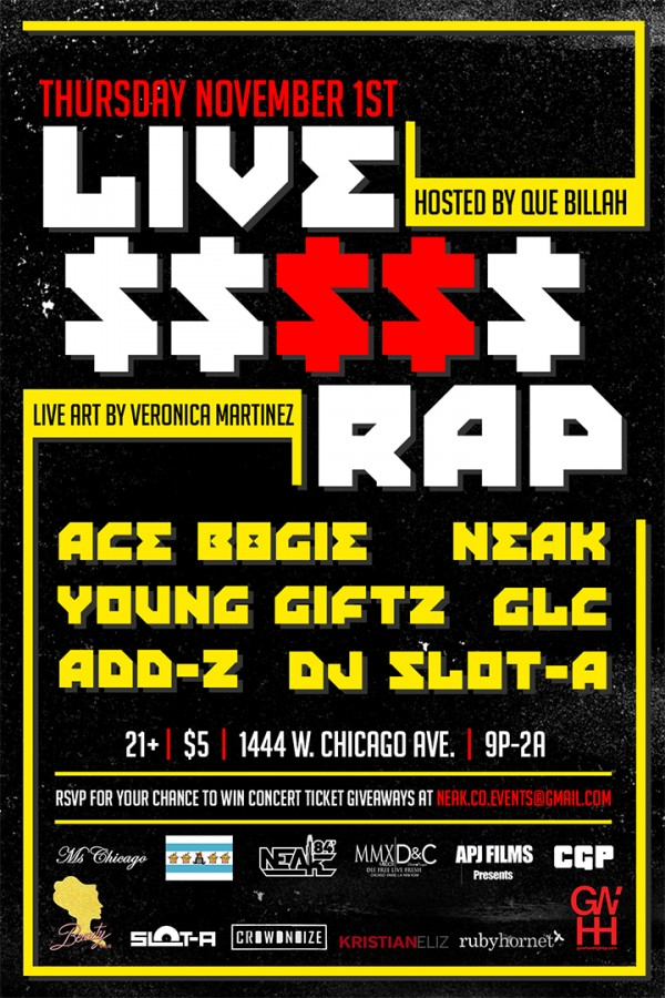 [RH Events] Live $$$$$ Rap feat Neak, GLC, Giftz and More