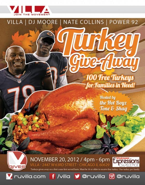 [RH Events] Villa Chicago Turkey Giveaway