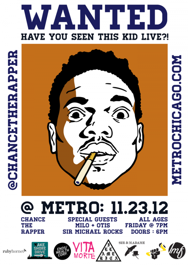 chancelivemetro e1352846508278 [RH Events] Chance The Rapper: Acid Rap Live