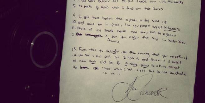 Jon Connor Lyrics for Freestyle at RubyHornet