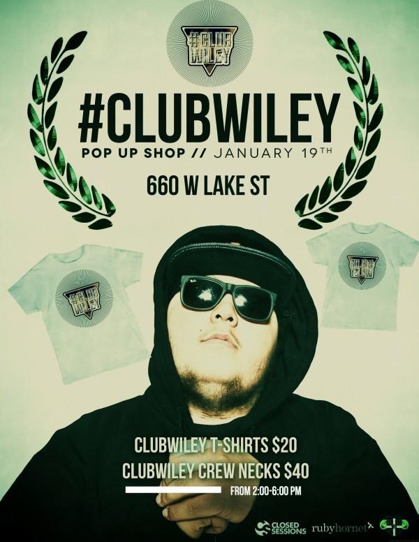 ClubWiley Pop Up Shop Flier
